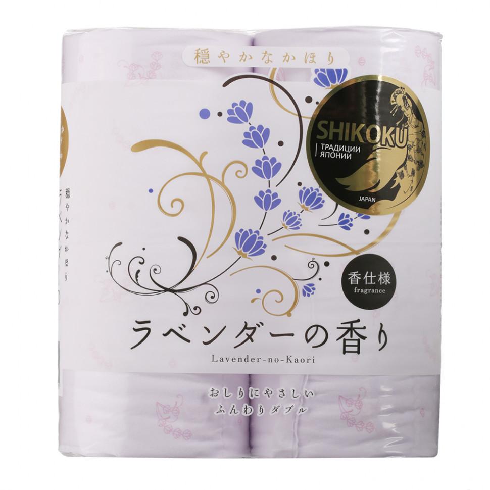 Shikoku Lavender-no-Kaori Парфюмированная туалетная бумага 2-х слойная, 4 рулона