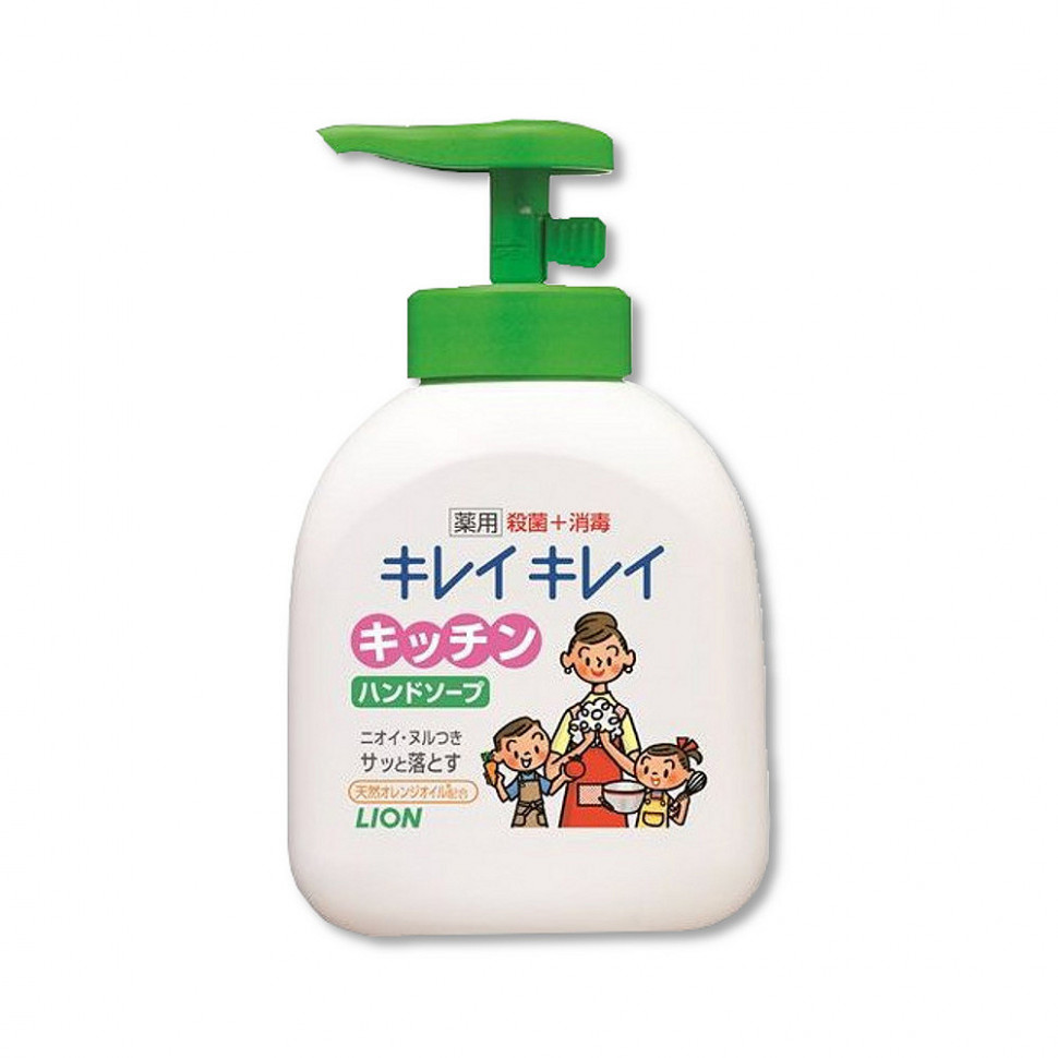 Lion Kirei Kirei Пенное антибактериальное мыло для рук, 250 мл