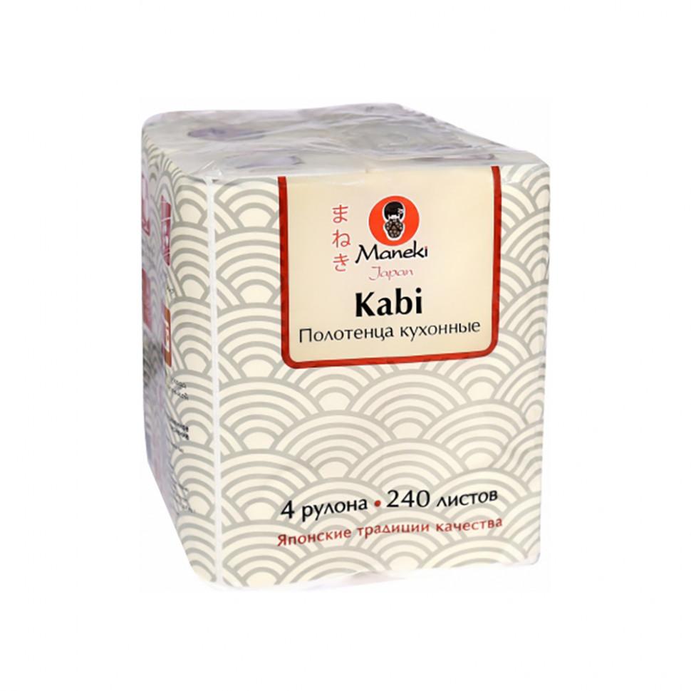 Maneki Полотенца кухонные бумажные Sumi-e, белые, 4 рулона