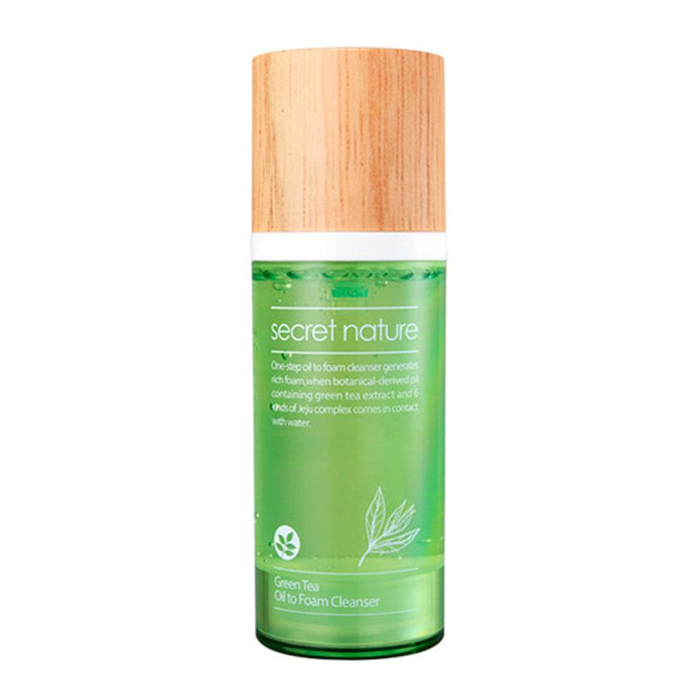 Купить Secret Nature Гидрофильное масло-пенка для умывания с зеленым чаем, увлажняющая, 100 мл