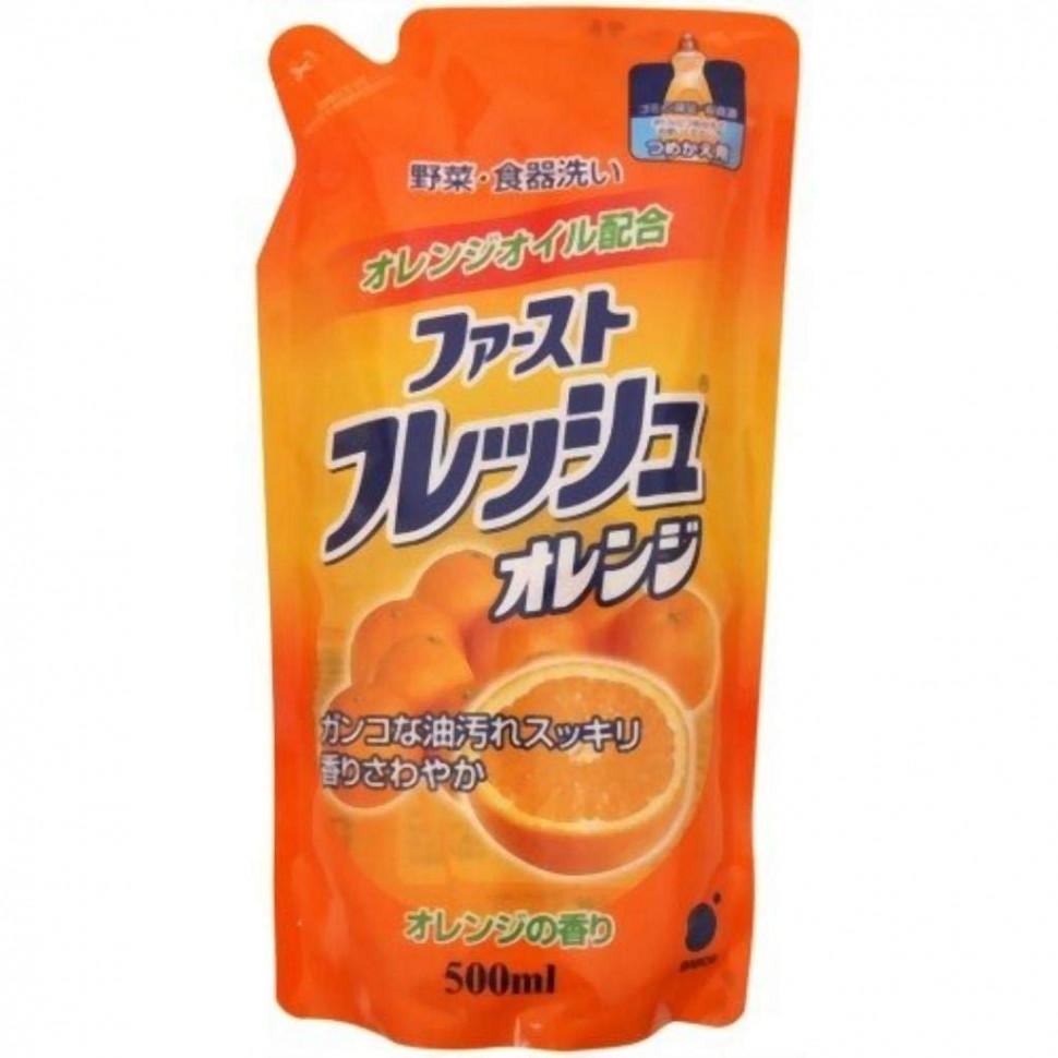 Funs Жидкость для мытья посуды овощей и фруктов свежий апельсин ЗБ, 500 мл