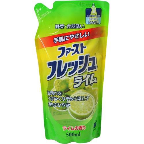 Funs Жидкость для мытья посуды овощей и фруктов свежий лайм ЗБ, 500 мл