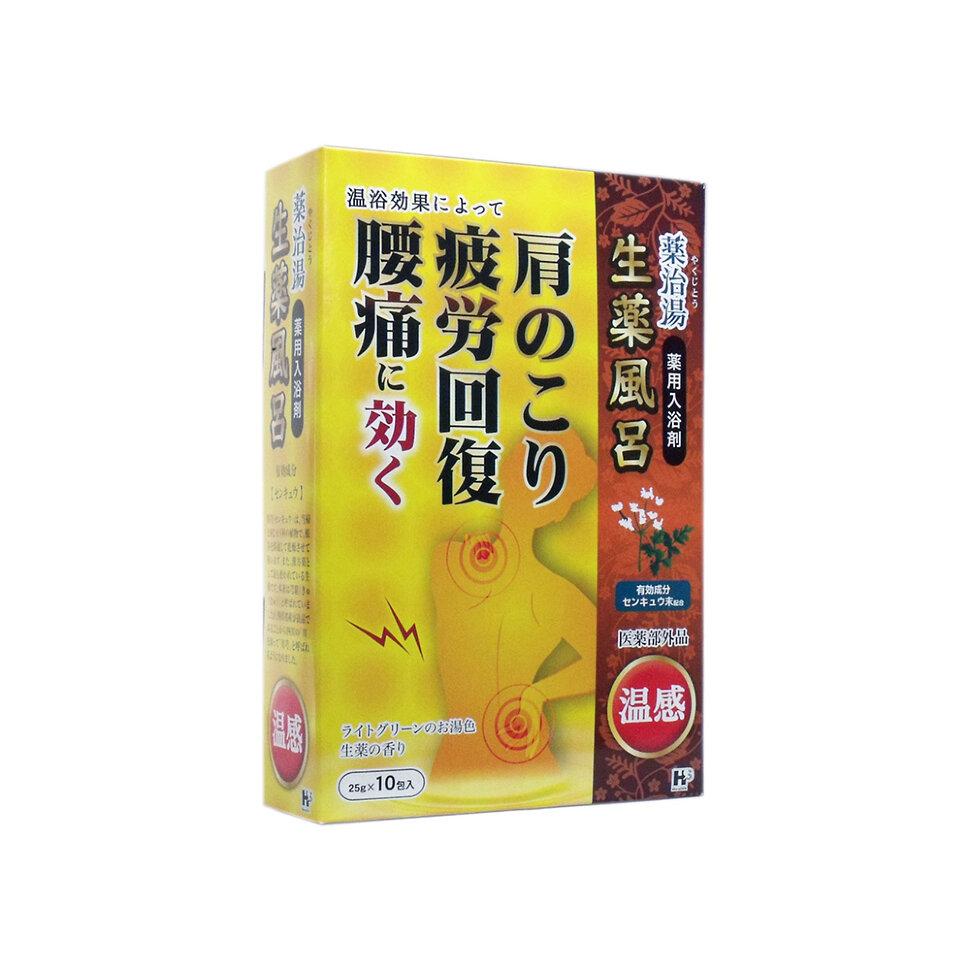 Yakujito Соль для принятия ванны согревающая «Целебные травы», 25 г*10 шт фото