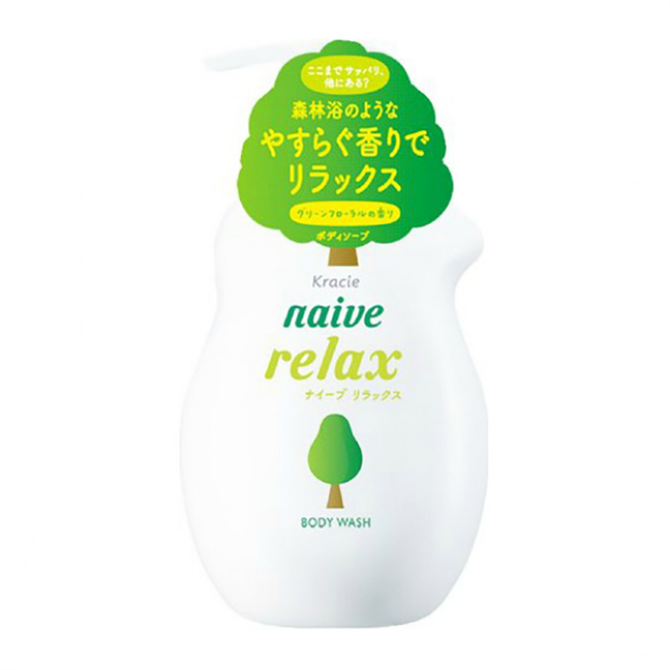 Kracie Мыло жидкое для тела с расслабляющим ароматом зелени и цветов, 530 мл