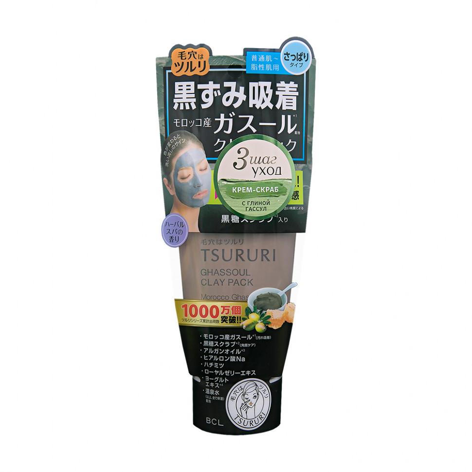 Tsururi Крем-скраб для лица с вулканической глиной, каолином и коричневым сахаром 150 г фото