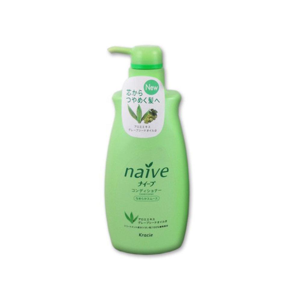Kracie  Naïve Бальзам-ополаскиватель восстанавливающий для нормальных волос с экстрактом алоэ, 550 мл