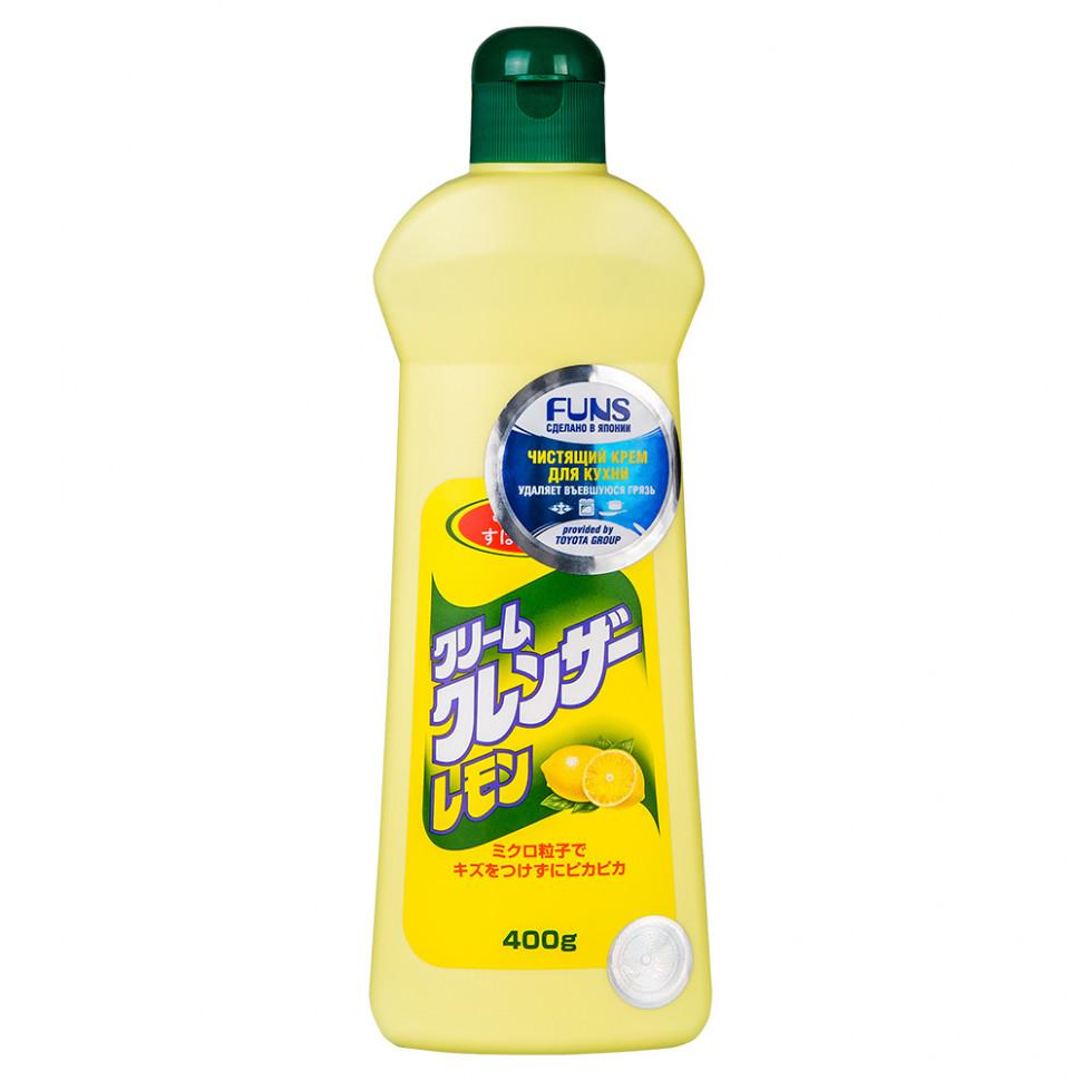 Funs Крем чистящий для кухни и посуды с ароматом лимона, 400 мл