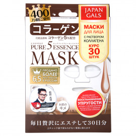 "Japan Gals ""Pure5 Essence"" Маска с коллагеном, 30 шт"