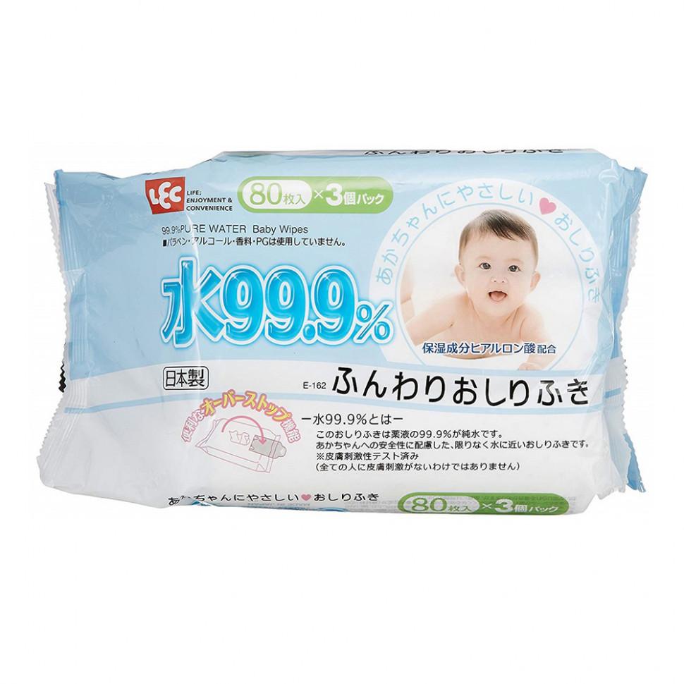 iPlus Детские влажные салфетки 99,9% воды д/рук и лица, 80 шт
