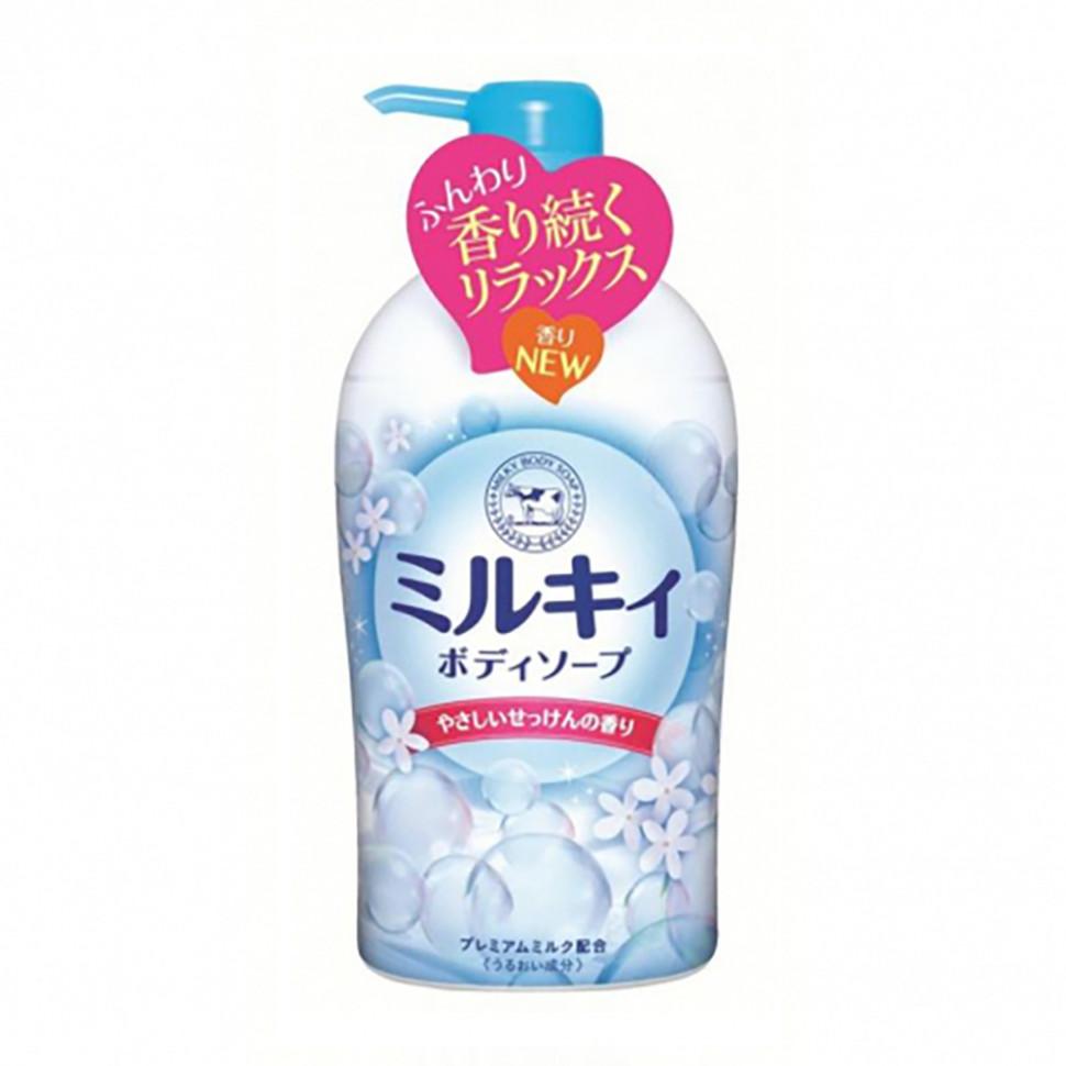 Cow Bouncia Milky Body Soap Молочное мыло для тела с аминокислотами шёлка и ароматом белых цветов 550 мл фото