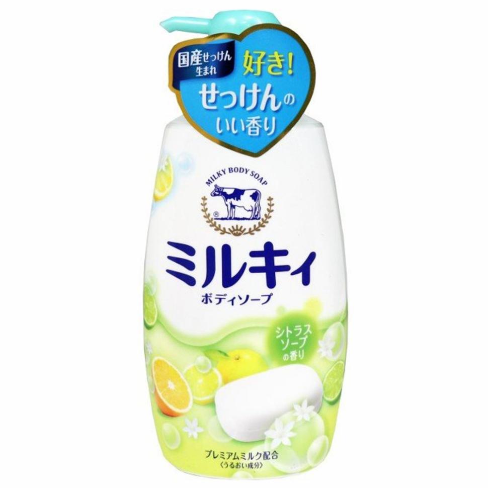 Cow Bouncia Milky Body Soap Мыло молочное для тела с аминокислотами шёлка и ароматом свежести, 550 мл фото