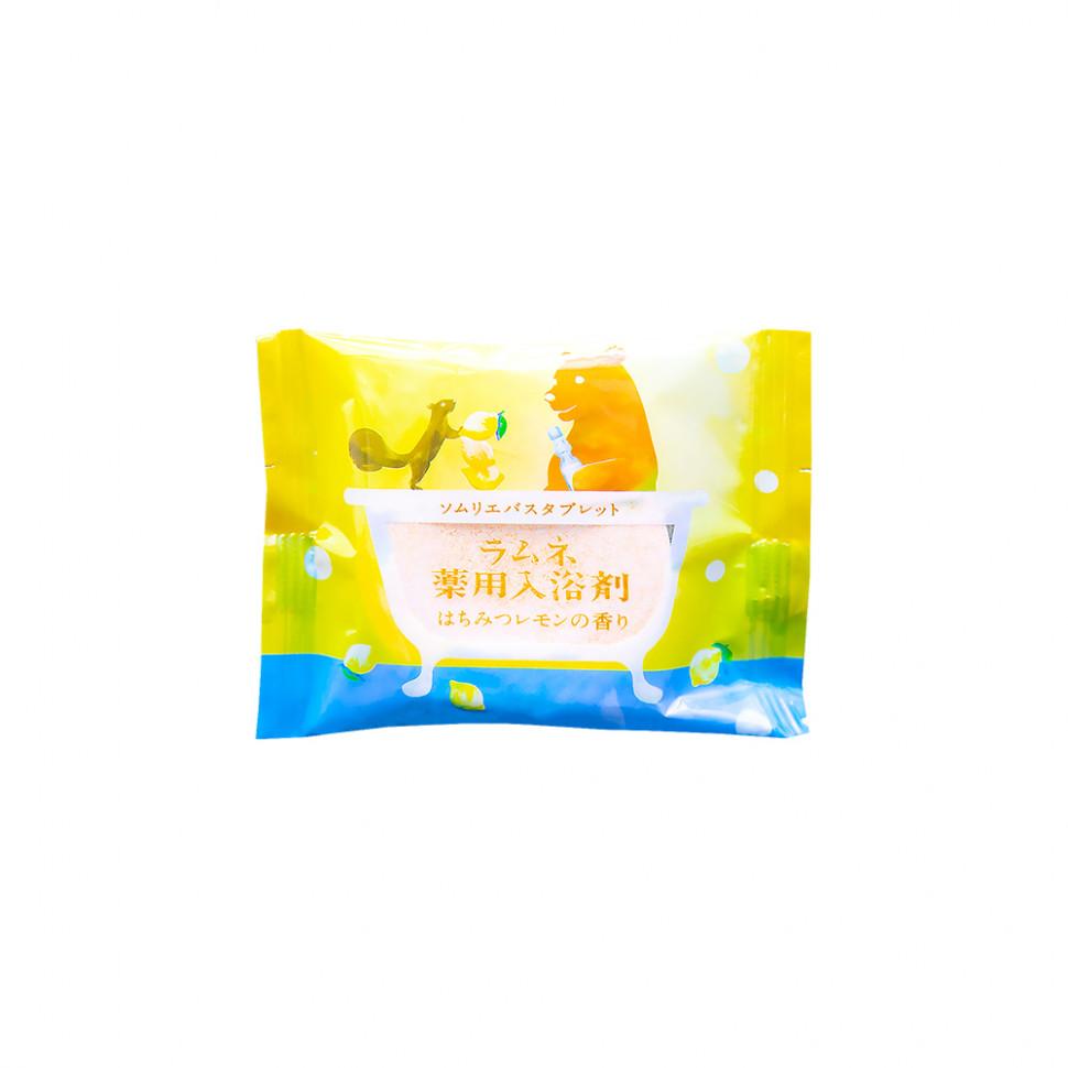 Charley  Sommelier Соль-таблетка для ванн расслабляющая с ароматом меда и лимона, 40 г