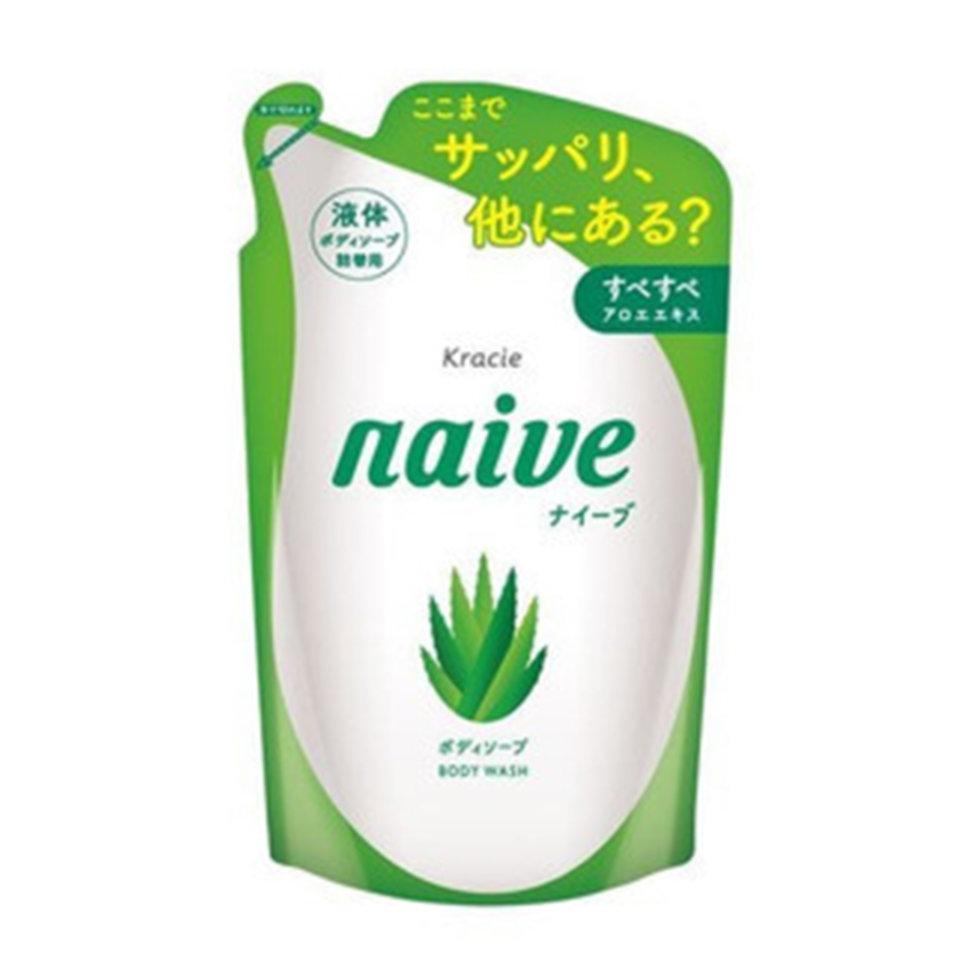 Kracie Naïve Мыло жидкое для тела с экстрактом алоэ ЗБ, 380 мл