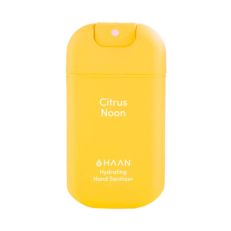 Купить HAAN Очищающий и увлажняющий спрей для рук Освежающий лимон / Hand Sanitizer Citrus Noon, 30 мл