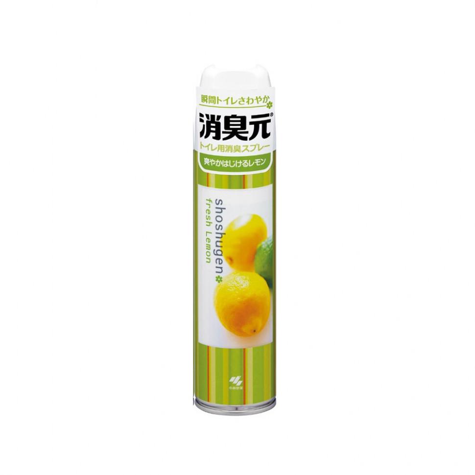 Kobayashi Shoshugen Fresh Lemon Освежитель-аэрозоль для туалета аромат лимона, 280 мл фото