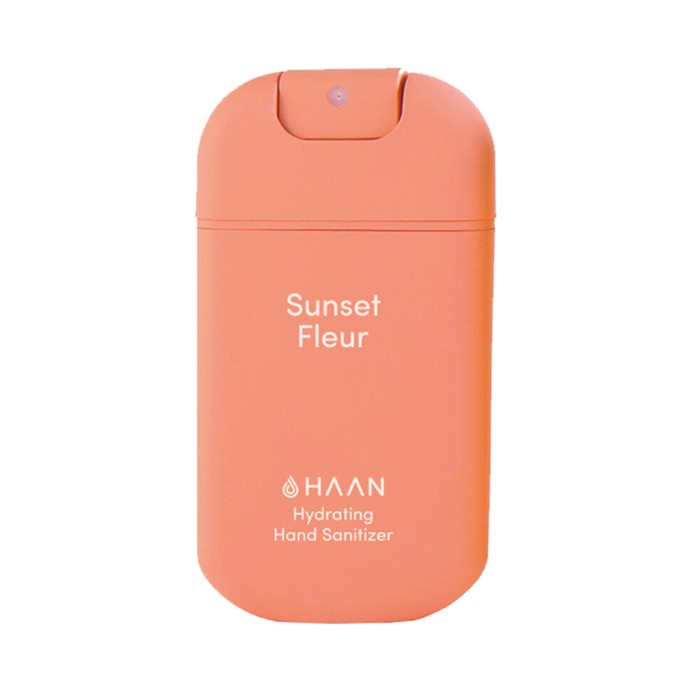 HAAN Очищающий и увлажняющий спрей для рук Таинственный закат / Hand Sanitizer Sunset Fleur, 30 мл  - Купить