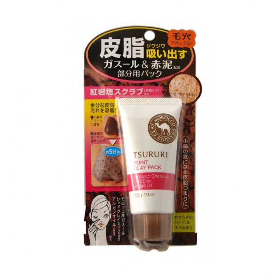 Tsururi Крем - маска для лица с глиной (для Т-зоны), 55 гр