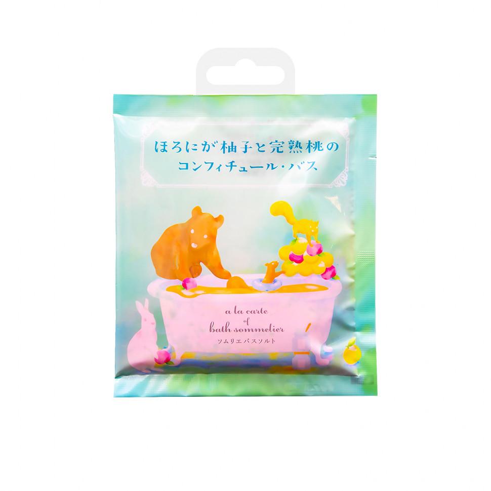 Charley  Sommelier Соль для ванн расслабляющая с экстрактом персика, 40 г