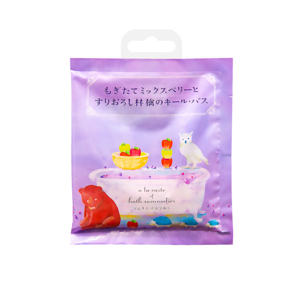 Charley  Sommelier Соль для ванн расслабляющая с экстрактом яблока, 40 г